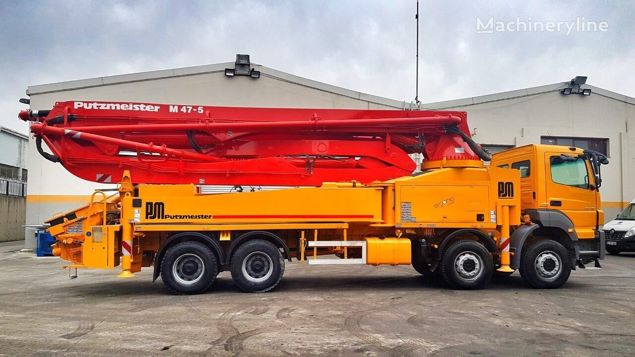 Putzmeister BSF 47-5.16H on chassis MERCEDES-BENZ Axor 4140 8x4 - 2015 Putzmeister 47 Ergonic SPECIAL EDITION concrete pump