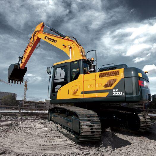 new HYUNDAI HX 220L  tracked excavator