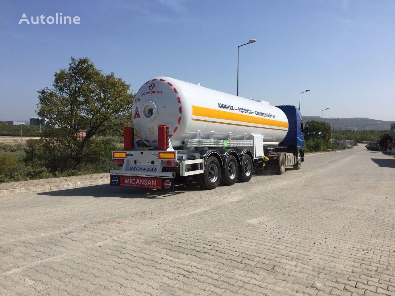 new Micansan LPG GAS TANKS STORAGES AND LPG GAS TRANSPORT TANK SEMI TRAILERS  gas tank trailer