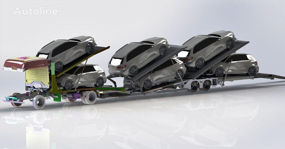 new ZABUDOWA AUTOLAWETA PIĘTROWA NA 6 AUT Autotransporter Plattform  car transporter semi-trailer