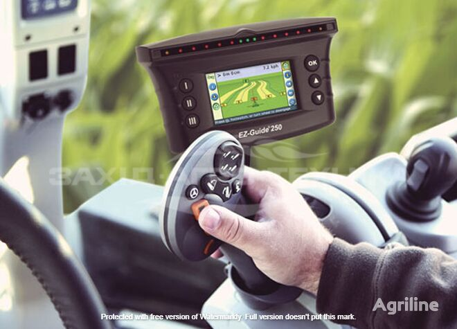 new TRIMBLE EZ-GUIDE250 navigation system for tractor