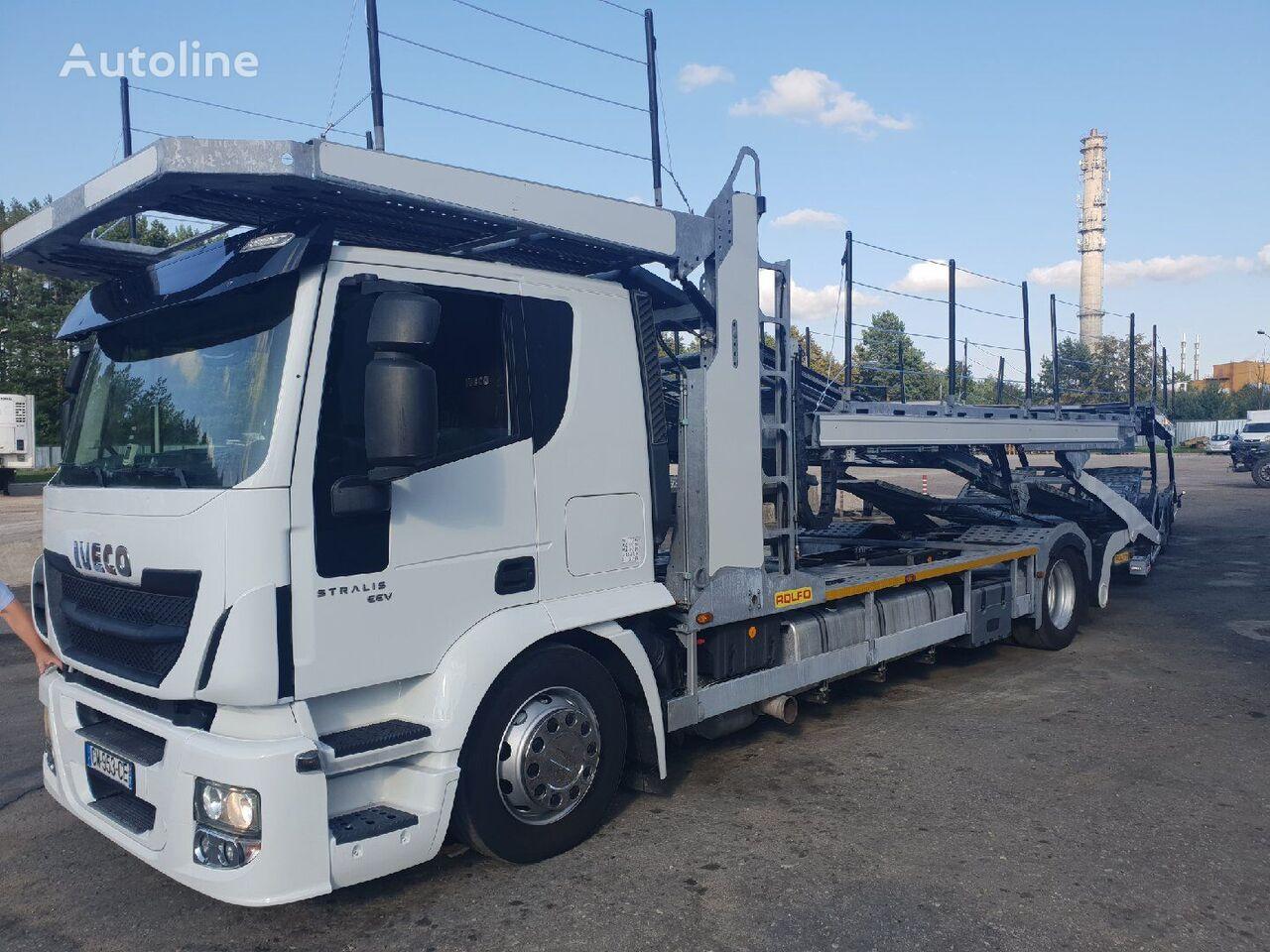 IVECO tractor unit + car transporter semi-trailer
