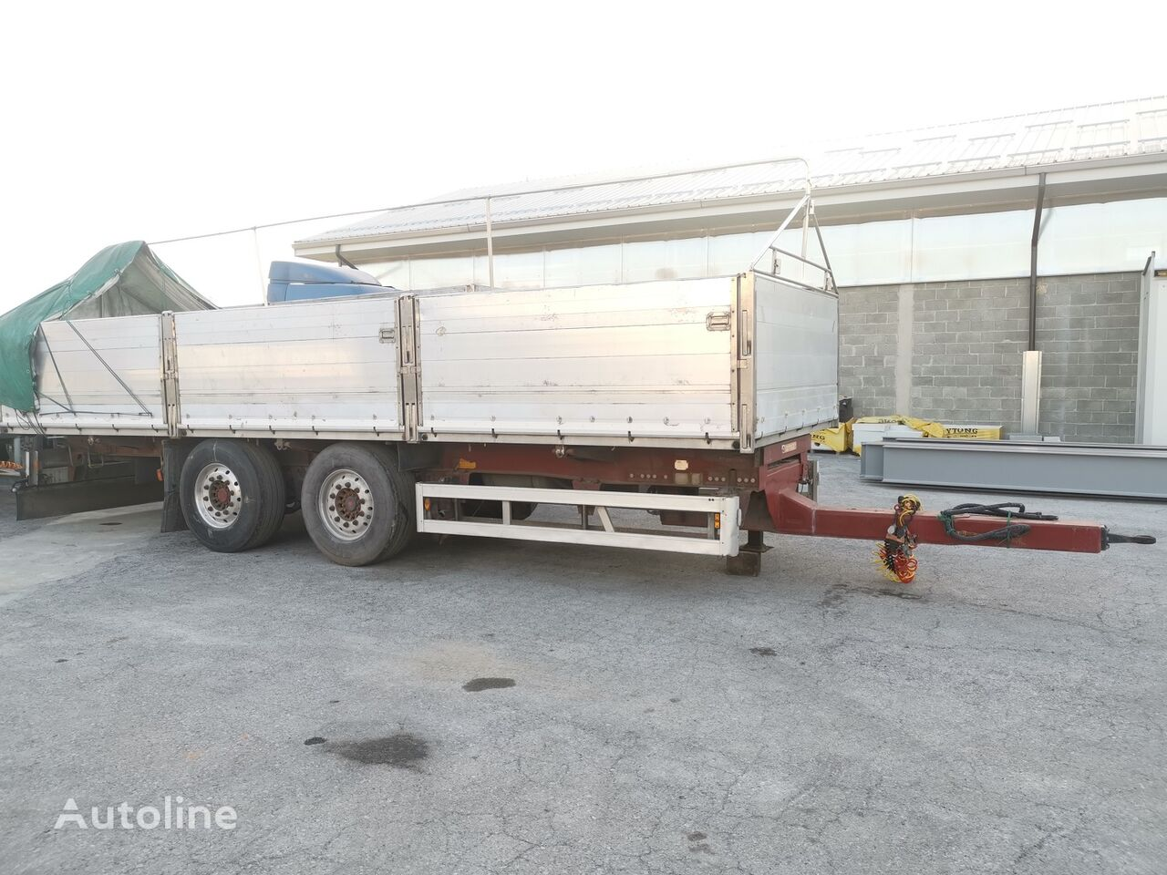 OMAR Biga Ribaltabile Bilaterale flatbed trailer