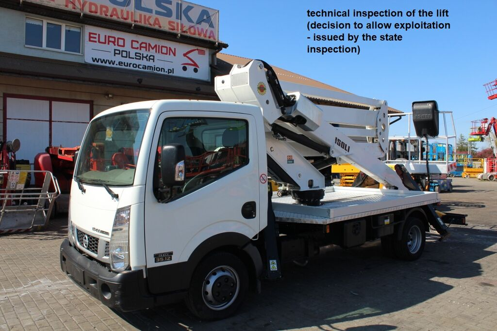 NISSAN Cabstar - 20 m Isoli PNT 205 N (technical inspection) bucket truck