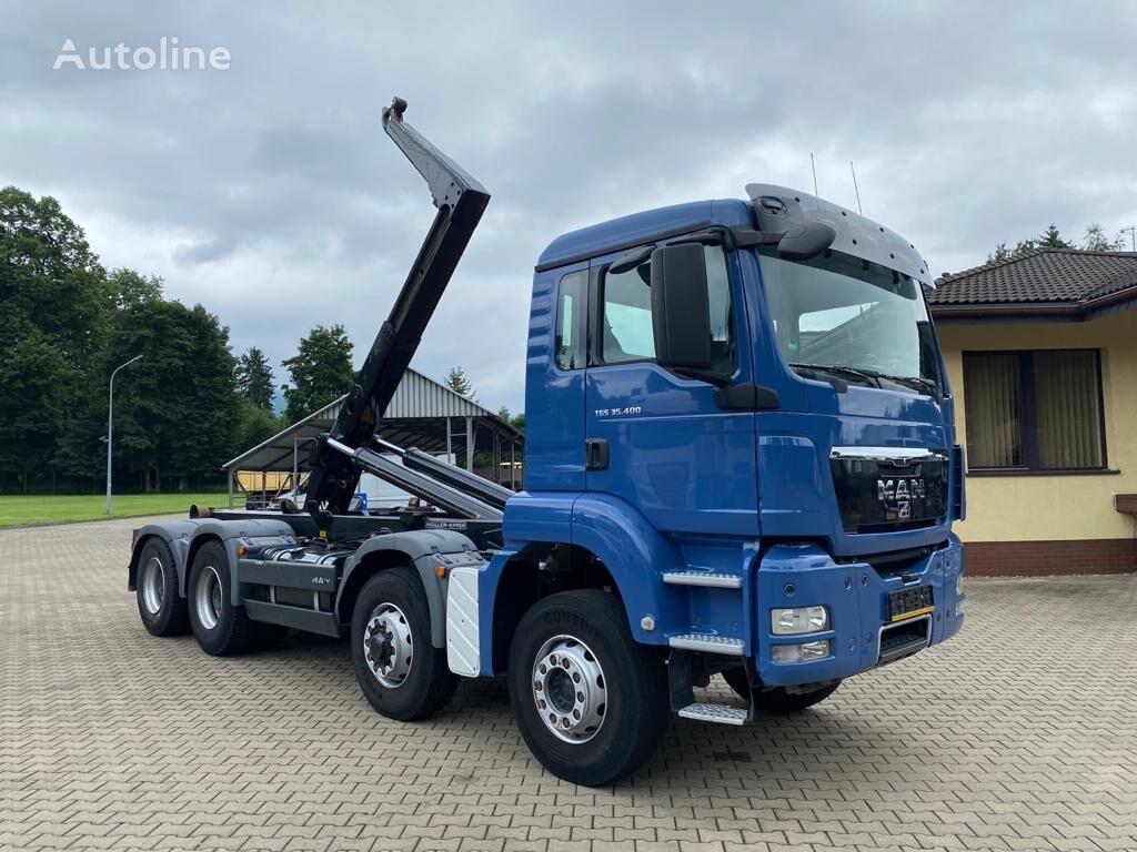 MAN 35.400 TGS 8X6 hook lift truck